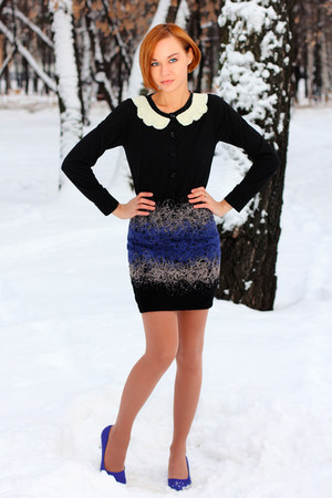 nowIStyle skirt - nowIStyle cardigan - blue H&M heels