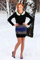 nowIStyle skirt - nowIStyle cardigan - blue H&M heels