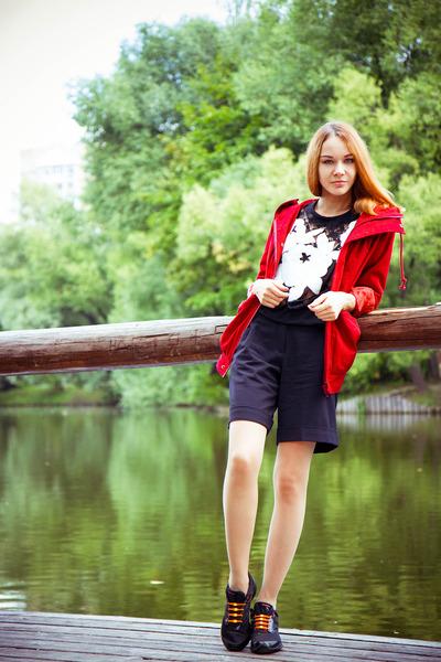 Chicwish coat - Chicwish sweater - Zarina shorts - hickies stockings
