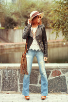 Vero Moda jacket - Oasis bag - wowvintage sunglasses - Chicwish top