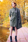 Black-aldo-boots-army-green-french-connection-dress-topshop-coat
