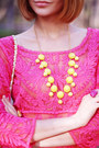 Hot-pink-choies-dress-asos-bag-yellow-style-lately-necklace