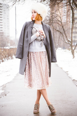 Little Mistress skirt - Zarina coat - Chicwish sweater