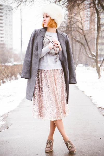 Little Mistress skirt - Zarina coat - Chicwish sweater