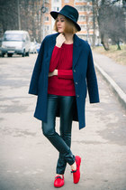 Sheinside sweater - Customellow coat - Choies pants - Mocks loafers