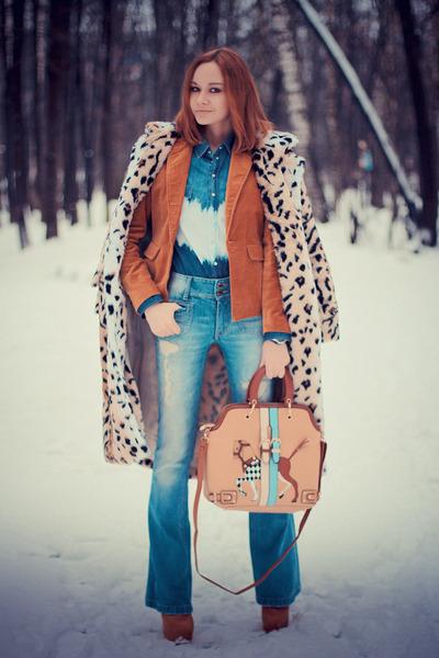 Sheinside coat - Udobuy boots - sammydress bag