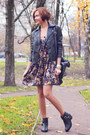Velvet-nowistyle-dress-black-asos-boots