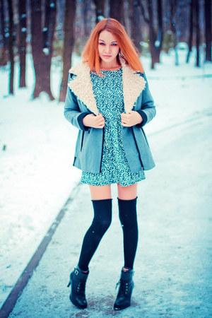 Sheinside coat - Sheinside dress