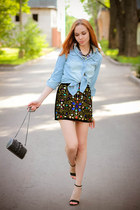 Chicwish skirt - Mart of China shirt - Religion bag - BangGood necklace