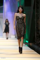 black Tippi Ocampo dress - black shoes