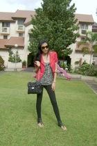 unbranded blazer - Zara top - random from Hong Kong leggings - People R People s