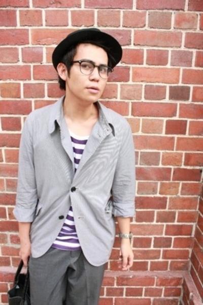 Muji jacket - Topman t-shirt - purse - hat