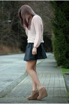 go jane shoes - H&M dress - romwe sweater