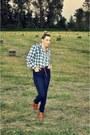 Urban-outfitters-jeans-thrift-storeed-shirt-h-m-belt-urban-behaviour-clogs