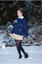 thrift sweater - Aldo shoes - American Eagle skirt - H&M blouse