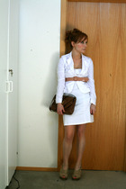 Express jacket - Victorias Secret dress - J Crew belt - hayden harnett for targe