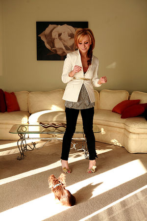 gold Christian Louboutin shoes - white ebay find Chicos blazer - silver Joie top