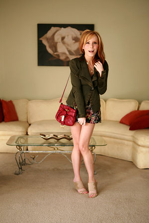 green Nanette Lepore jacket - pink Topshop shorts - beige Alexander Wang shoes -