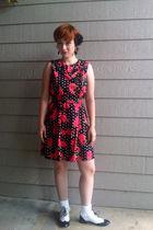 ModClothcom dress - ModClothcom shoes - American Apparel socks - Target earrings