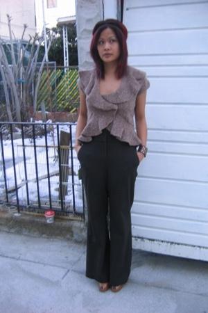 Victorias Secret sweater - Express pants - Miu Miu shoes