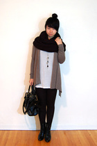 H&M scarf - Costa Blanca sweater - Bedo top - fafa purse - Payless Shoesource bo