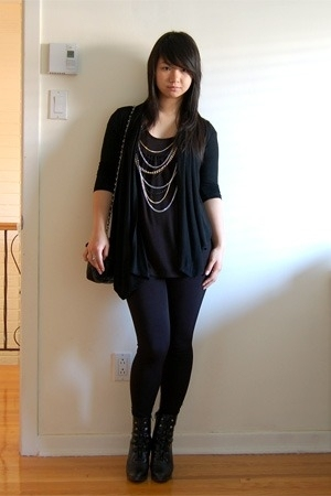 Dynamite sweater - Urban Behaviour top - le chateau leggings - Payless Shoesourc