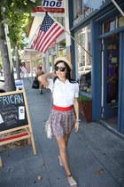 Forever 21 skirt - leather Rebecca Minkoff bag - paul and joe for target blouse