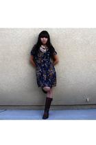 Target dress - Steve Madden boots - modcloth scarf