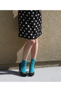 Black-h-m-dress-blue-forever-21-socks-black-christian-siriano-for-payless-sh