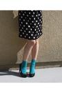 Black-h-m-dress-blue-forever-21-socks-black-christian-siriano-for-payless-sh