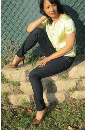Ann Taylor Loft top - BCBG heels