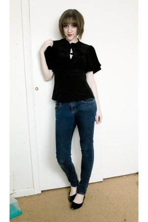 Urban Outfitters blouse - dogpile jeans - Soda shoes