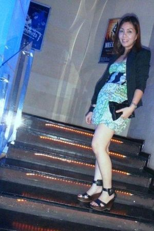 Bershka dress - Nine West shoes - my design blazer - Bershka scarf