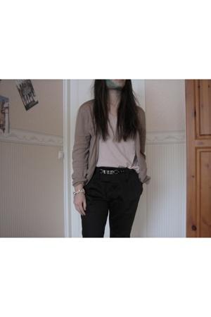 GINA TRICOT pants - Indiska shirt - GINA TRICOT - Zara belt - GINA TRICOT bracel