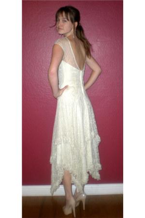 off white vintage dress - Aldo heels
