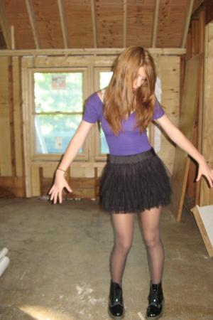 American Apparel dress - H&M skirt - Target tights - Doc Marten shoes
