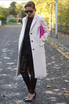 Zara coat - asos leggings - asos bag