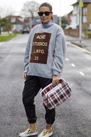 Sheinside sweater - asos bag - Topshop pants