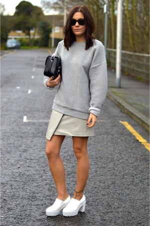 Topshop skirt - Topshop jumper - Choies heels
