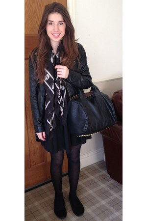 black H&M dress - black Primark scarf - black Alexander Wang bag