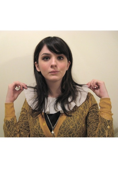 gold Rodarte for Target cardigan - black vintage from etsy dress