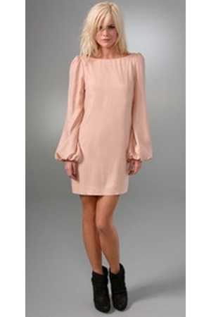 pink Elizabeth and James dress - black Elizabeth and James boots