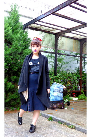 black t-tribe top - black Rocket Dog shoes - black Zara coat