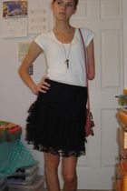 gray Urban Outfitters necklace - black H&M skirt - pink Makowsky