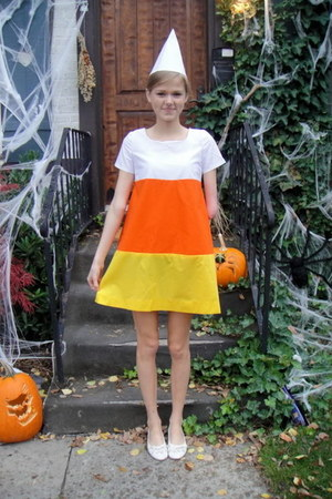 candy corn handmade dress