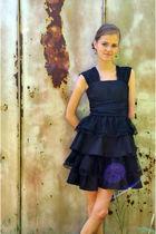 black custom made by me dress