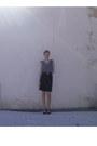 Floral-chiffon-forever-21-blouse-black-corduroy-handmade-skirt