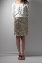 gold handmade skirt