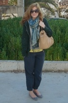 Zara jacket - H&M sweater - H&M top - Badila pants - Zara scarf - Kem purse