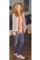 Marks and Spencers scarf - Sprider jacket - H&M t-shirt - REPLAY jeans - all-sta